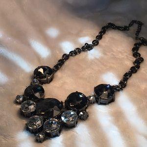 Gun metal Smokey quartz necklace